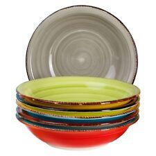 6-tlg. Suppentellerset Malaga 650 ml handbemalt Essteller tief Servierschalen