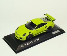 Porsche 911 GT3 RS 991 - lichtgrün lime green - Minichamps 1:43 - dealer edition