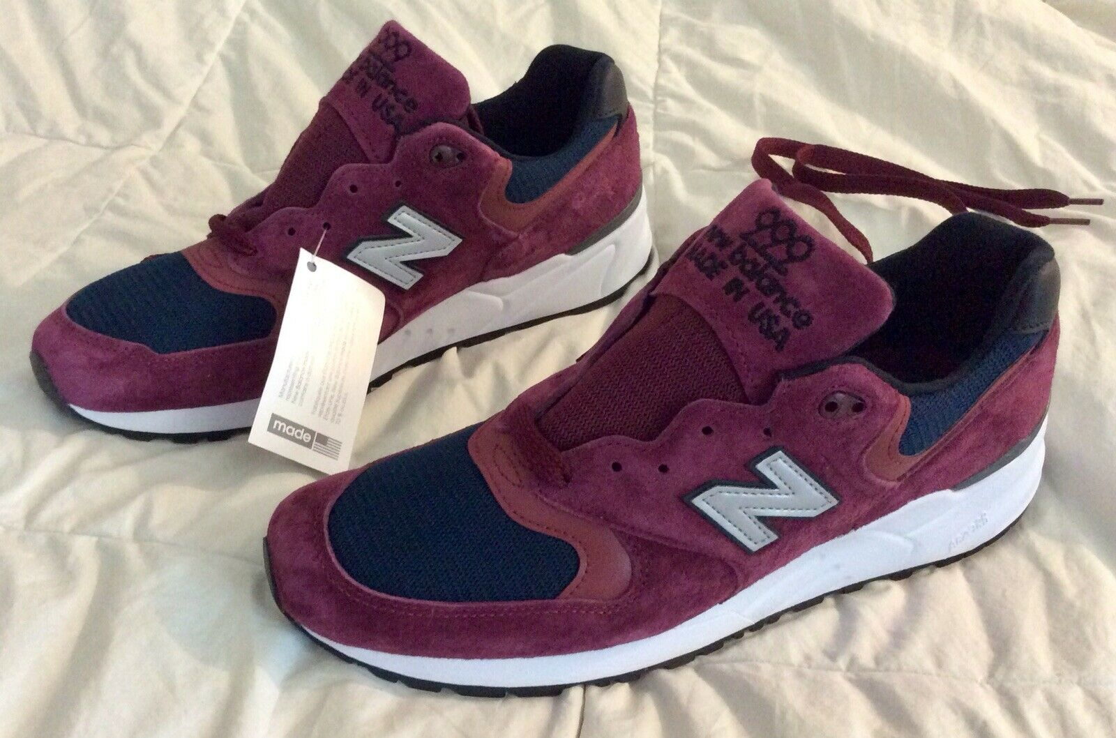 180 NEW BALANCE 999 Maroon Navy Men's size 11 D MADE IN THE USA M999JTA 990
