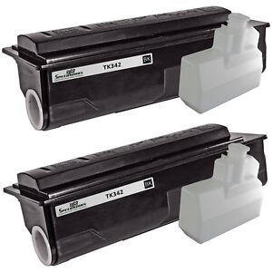 2pk-pour-Kyocera-Mita-TK-342-noir-TK342-Cartouche-de-toner-pour-utilisation-en-FS-2020D