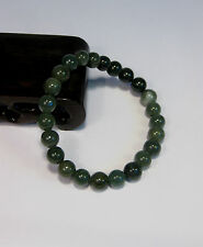 Natural Grade A  dark green  jade 4 mm beaded stretchy bracele(22 beads)