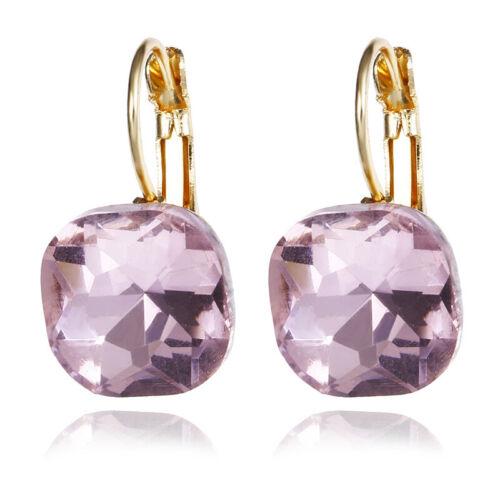 1 Pair New Fashion Women Lady Elegant Crystal Rhinestone Ear Stud Hoop Earrings