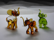 Glasfiguren Lampenglas frei geformt Elefant Murano oder Thüringen Lauscha