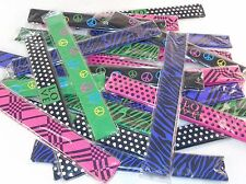 Slap Bracelets ~ Lot of 24 Wrap Around Wrist Bands With Colorful Print Patterns