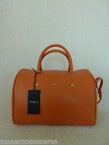fbf9f7a2b75d NWT FURLA Carrot Orange Saffiano Leather L Alissa Satchel Crossbody ...