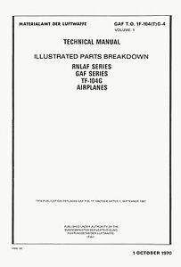 LOCKHEED-TF-104G-STARFIGHTER-ILLUSTRATED-PARTS-BREAKDOWN-GAF-TO-1F-104-T-G-4