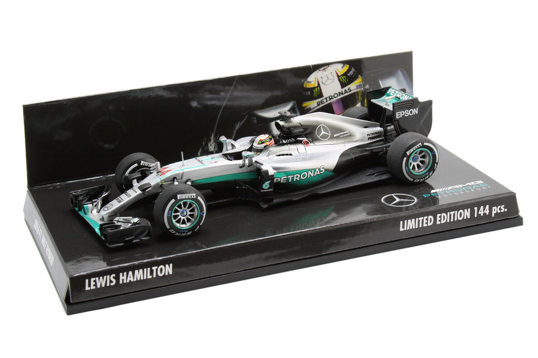 Minichamps 1/43 Lewis Hamilton Mercedes AMG Petronas F1 W07 2016 limitata 144pcs
