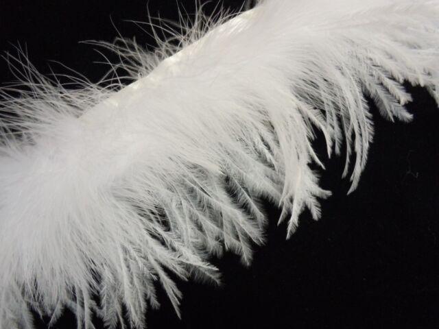 F801 PER FEET- New! White Ostrich+Turkey feather fringe Trim Fascinator Material
