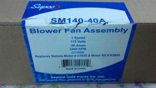 BATHROOM MOTOR NUTONE Blower Fan Assembly EXHAUST FAN KITCHEN BROAN