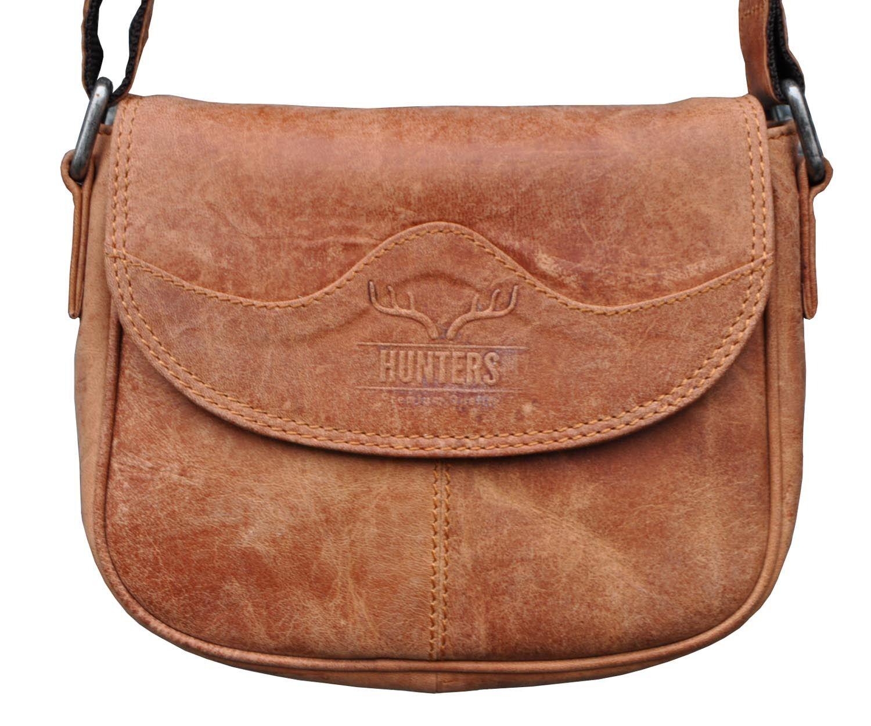 69c41ad8b09ea Handtasche Schultertasche Umhängetasche Umhängetasche Umhängetasche Echt  Leder Hunter Leder Braun H-52