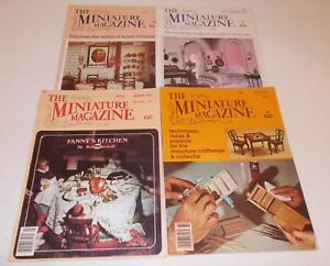 The-Miniature-Magazine-lot-1978-1979-projects-craftsman-amp-collector-dollhouse