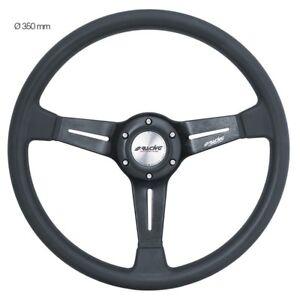 Simoni-Racing-Volante-Universale-SLAG-in-Poliuretano-e-Alluminio-Nero