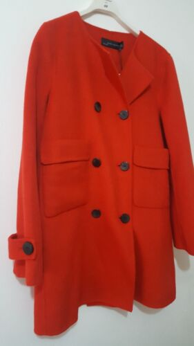 M Fave Zara Coat Red Out Sold Buttoned Size Bloggers Made Hand 8r8Yfqw