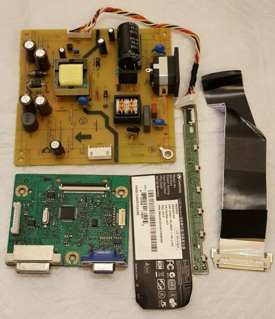 Gateway KX2403 POWER SUPPLY, Main Board, KEY CONTROL, LVDS CABLE 1329 1C1A2