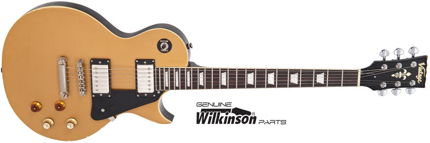 Vintage Icon V100MRJBM gold Top  Distressed electric guitar – New