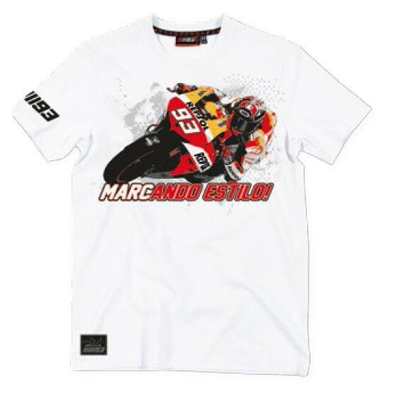 New Official Marc Marquez 93 Weiß T-Shirt -  MMMTS 101106     Won hoch geschätzt und weithin vertraut im in- und Ausland vertraut    New Style    Verrückte Preis