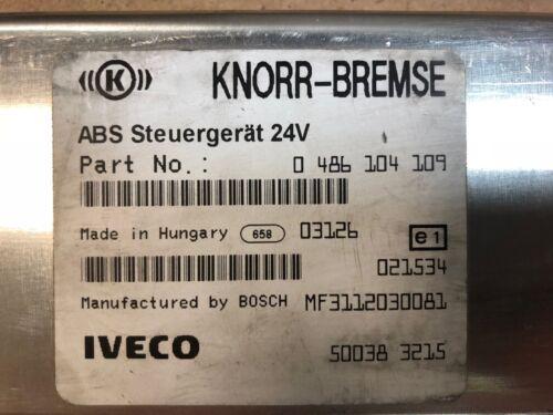 IVECO ABS ECU CONTROL UNIT KNORR BREMSE GENUINE 0486104109