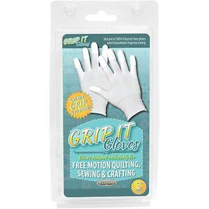 Sullivans-Grip-Guanti-per-free-motion-quilting-piccolo-Acrilico-multicolore