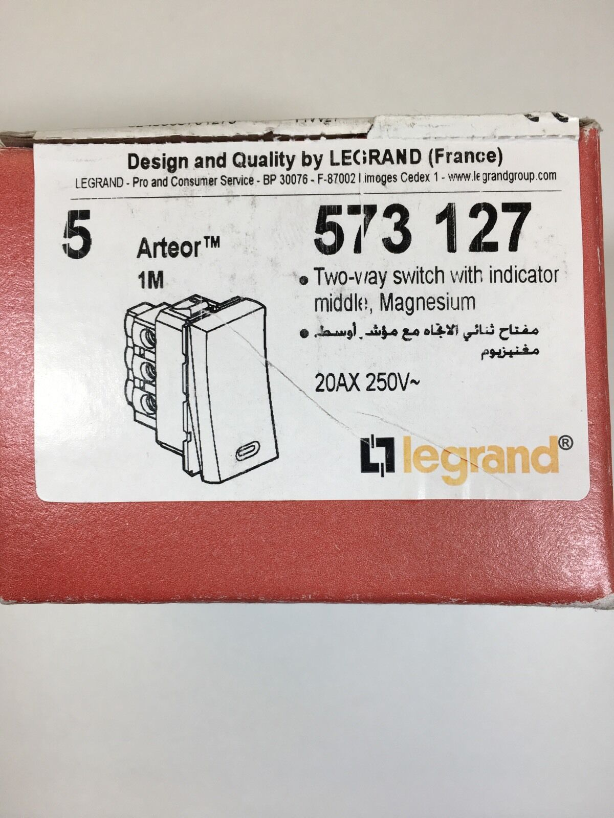 legrand 2way switch with indicator Arteor 1m 20a 240v only 5.99 free delivery