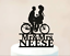 Biker-Horse-Couple-Wedding-Cake-Topper-Customized-Last-Name-Party-Decorations thumbnail 10