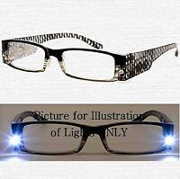 +1.00 - +3.00 Black Aj Morgan Led Lighted Patented Reading Glasses