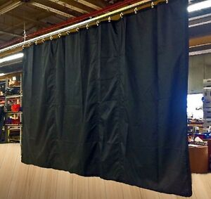 Image Is Loading Lot Of 3 Black Fire Retardant Curtains 12