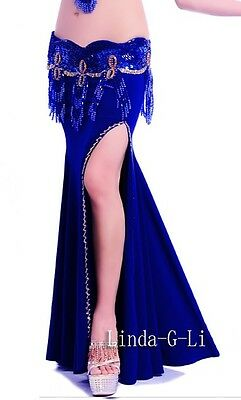 Sexy Belly Dance Costume Split Skirt  Free shipping From USA