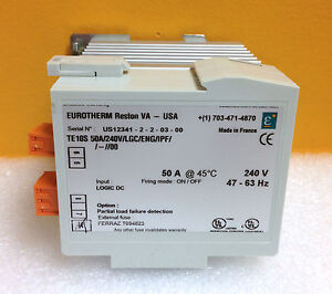 Eurotherm TE10S 50A/240V/LGC/ENG/IPF/-//00 50 Amp 240V Solid State Contactor