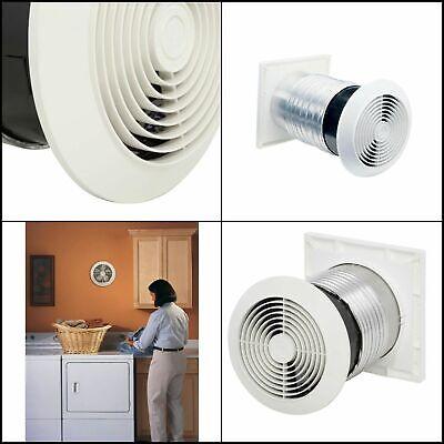Bathroom Through The Wall Mount Exhaust Fan Bath Vent Ventilator 70 Cfm White Ebay