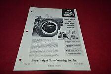 Roper Wright Tank Wheel Weights Dealers Brochure YABE11