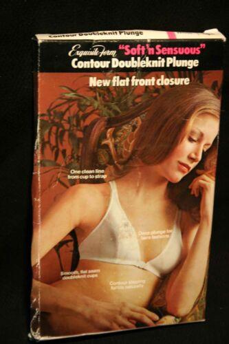 36C VTG 70s NOS Nylon FRONT CLOSE Bra Soft/'n Sensuous Exquisite Form P3489 1970s