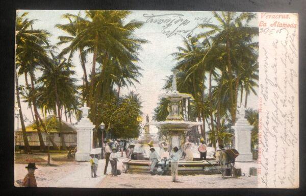 1905 Veracruz Mexique Photo Carte Postale Couverture à Potsdam Allemagne La Alameda Pourtant Pas Vulgaire