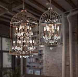 Bespoke bird cage crystal pendant chandelier pendant light lamp 8 image is loading bespoke bird cage crystal pendant chandelier pendant light aloadofball Images