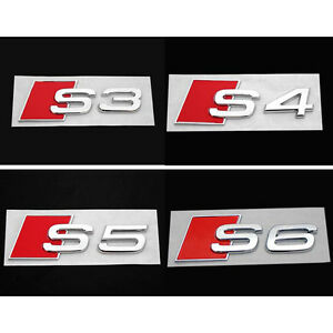 3D-Alloy-S3-S-Line-Car-Tail-Sticker-Emblem-Badge-Logo-Metal-Rear-Tail-Badge-Ehc