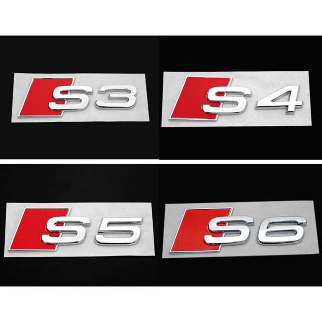 3D Alloy S3 S Line Car Tail Sticker Emblem Badge Logo Metal Rear Tail Badge-NT