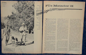 Article Original Firearms International Matador Ii Double Gun 4-p Magazine 1965-afficher Le Titre D'origine