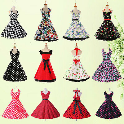 2015 Style Swing 50s VINTAGE Housewife Rockabilly Pinup Party Prom Evening Dress