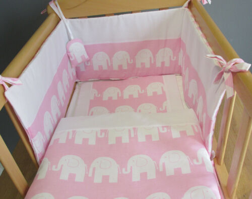 """Babies /"""" Elephants Bedding for Cot or Cotbed Any Colour FREE POST Cradle"""