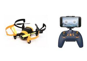 FPV-Drohne-Quadrocopter-Explorer-mit-WIFI-Livebild-auf-Handy-Komplettset-gelb