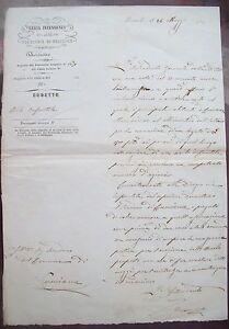 Antiques Faithful 1853 Letter From'steward In Pinerolo Carlo Oreglia From'island At Cuminiana