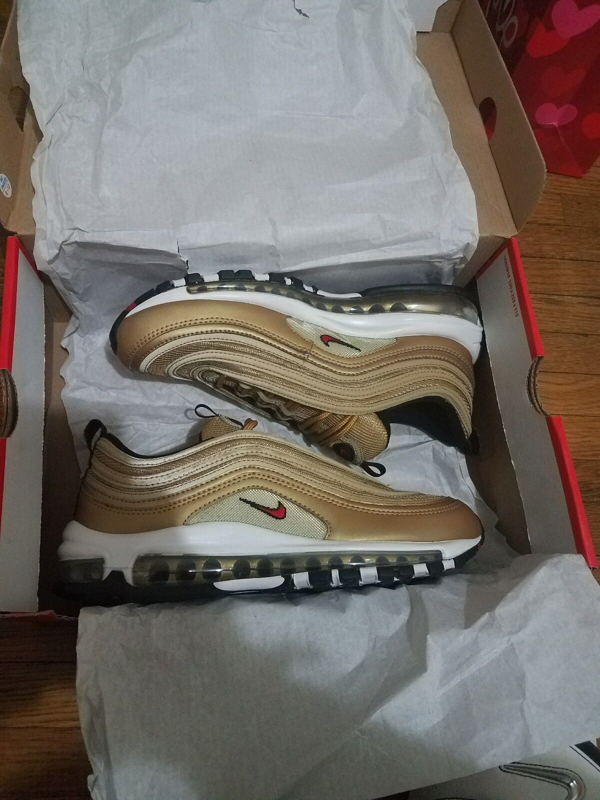 Nike air max 97 OG QS metallic gold 2017 size 7.5 for  550