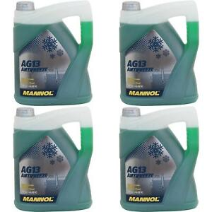 20Liter-MANNOL-Antifreeze-Kuehlmittel-40-C-Kuehlerfrostschutz-Typ-G13-gruen