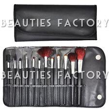 BF 12 pcs Makeup Brush Set Cosmetic Brush Kit Tool Leather Holder Case #177