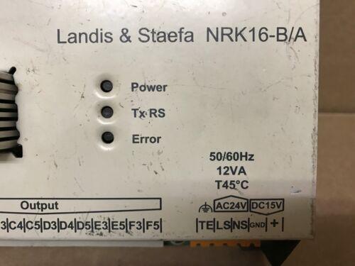 landis staefa manuals nrk16
