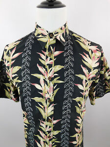 Cooke-Street-Men-039-s-Hawaiian-Floral-Short-Sleeve-Shirt-sz-Large-L