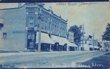 Cyanotype Real Photo Postcard East Main Street in Oconto, Wisconsin~112169
