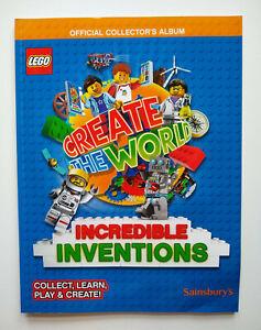 Lego-034-Create-the-World-034-collectors-album-Sainsbury-039-s-2018-VGC