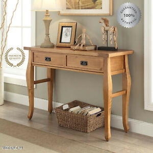 Console Table Sofa Rustic Pine Wood