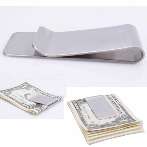 Slim Pocket Metal Clip Stainless Steel Cash Clamp Money Clip Men Purse Wallet