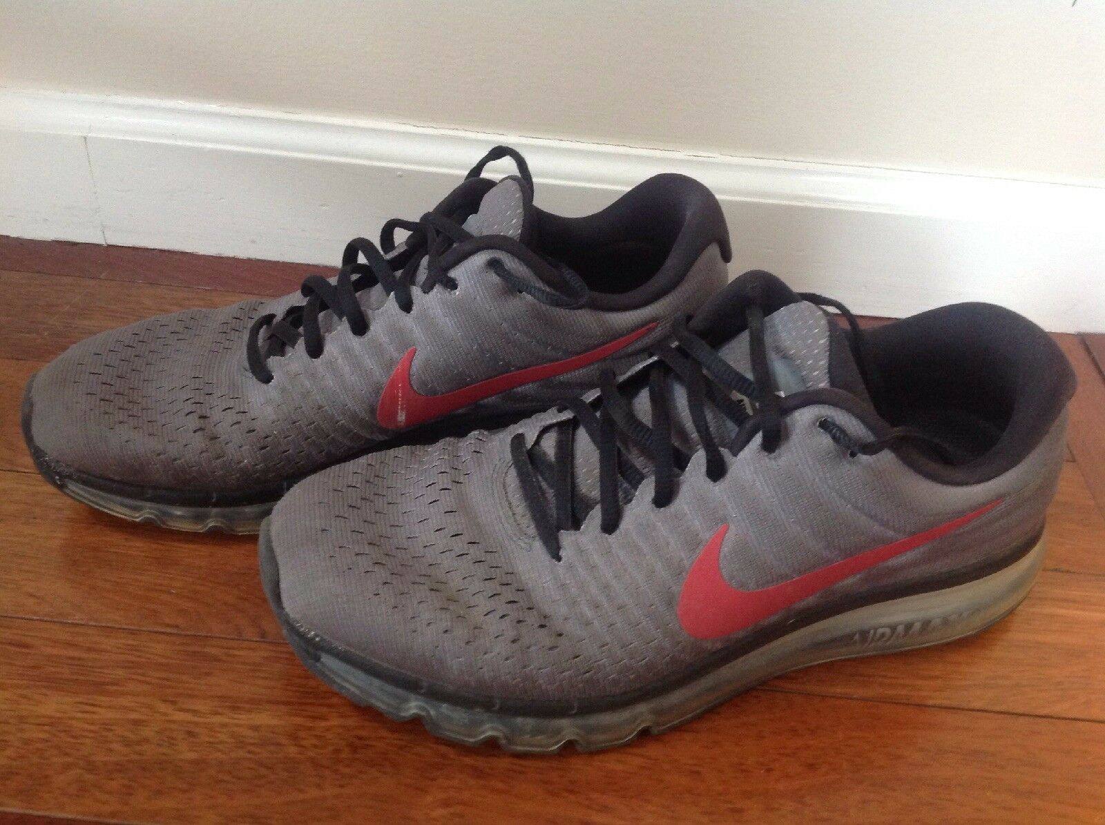 NIKE AIR MAX COOL Mens Size 11 Grey with Red stripe  [918091-991]